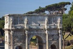 曲拱colosseum康斯坦丁意大利罗马 免版税库存图片