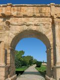 曲拱diocletian sufetula 免版税库存照片