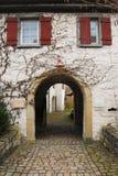 曲拱freiberg中世纪neckar斯图加特 库存图片