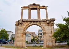 曲拱hadrian的雅典 库存照片