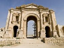 曲拱hadrian jerash胜利 库存图片