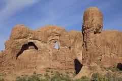 曲拱N.P.犹他风景岩石横向 免版税图库摄影
