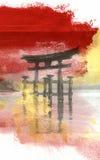曲拱torii 免版税库存照片