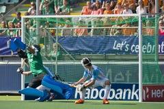 曲棍球世界杯Netherlans对阿根廷 免版税库存照片
