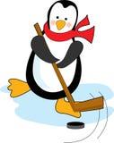 曲棍球企鹅 库存照片