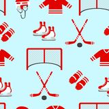 曲棍球传染媒介背景 模式无缝的向量 人` s冰球重复的纹理 冬季体育设计,给印刷品穿衣 顽童 皇族释放例证