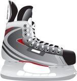 曲棍球冰说明的冰鞋 免版税库存照片