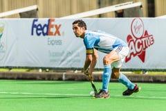 曲棍球国际阿根廷v南非 库存照片