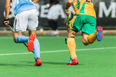 曲棍球国际阿根廷v南非 库存图片