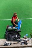 曲棍球国际阿根廷v南非 免版税库存照片