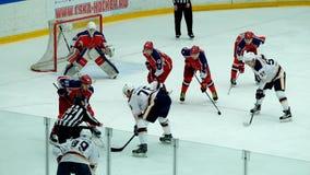 曲棍球比赛在Vityaz冰宫殿 股票视频