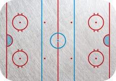 曲棍球溜冰场 免版税库存图片