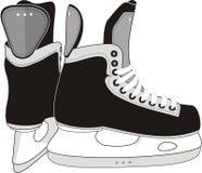 曲棍球溜冰鞋 免版税库存图片