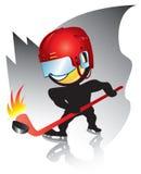 曲棍球滑冰 免版税库存照片