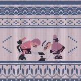 曲棍球纺织品样式 皇族释放例证