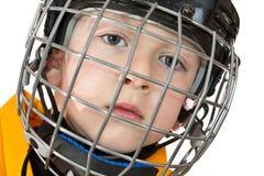 曲棍球运动员纵向年轻人 免版税库存照片