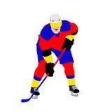 曲棍球运动员 图库摄影