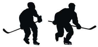 曲棍球运动员 免版税库存图片