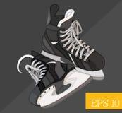 曲棍球滑冰等量传染媒介例证 免版税图库摄影
