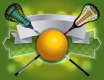 曲棍网兜球象征和横幅例证 库存例证