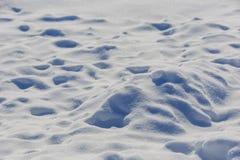 曲线形状雪背景,没人 图库摄影