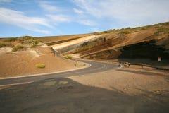 曲线沙漠路 免版税库存照片