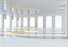 曲线白色空的室 免版税库存图片