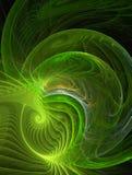 曲线绿色 库存例证