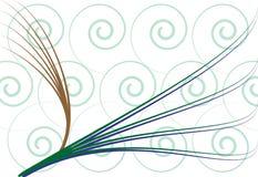 曲线螺旋 皇族释放例证