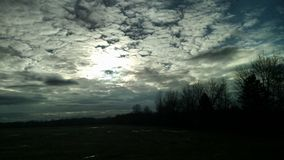 曲线锯的天空 库存照片