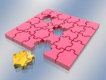 曲线锯的连结 missing puzzle 免版税库存照片