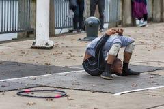 曲解街道执行者在波特兰,俄勒冈 图库摄影