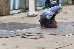 曲解街道执行者在波特兰,俄勒冈 库存图片