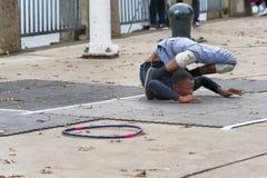 曲解街道执行者在波特兰,俄勒冈 免版税图库摄影