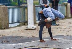 曲解街道执行者在波特兰,俄勒冈 免版税库存照片