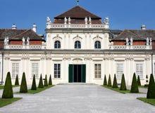 更低的眺望楼,维也纳,奥地利 库存图片