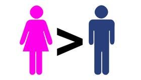 更加了不起的人比妇女 库存照片