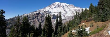 更加多雨Mt的全景  免版税图库摄影