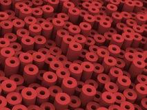 更加红色的管 库存例证
