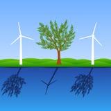 更加绿色做安排世界 免版税库存图片