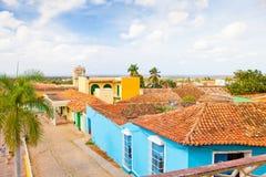更大的方形的特立尼达古巴鸟瞰图其他版本 库存照片