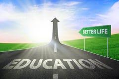 更好的寿命的教育 免版税库存照片