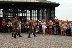 更改卫兵在布达佩斯 免版税图库摄影