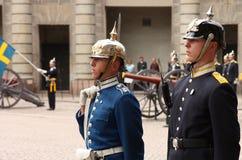 更改卫兵皇家斯德哥尔摩 免版税库存照片