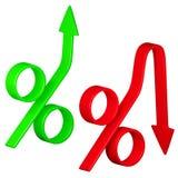 更改在利率 库存图片