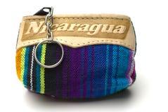 更改尼加拉瓜钱包纪念品 库存图片
