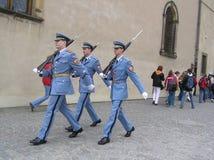 更改总统卫兵的宫殿 免版税库存图片