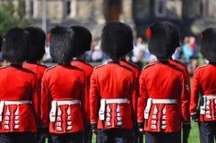 更改的卫兵小山渥太华议会 免版税图库摄影