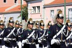 更改的卫兵里斯本前进的战士 免版税图库摄影
