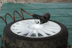 更改的轮胎 库存照片